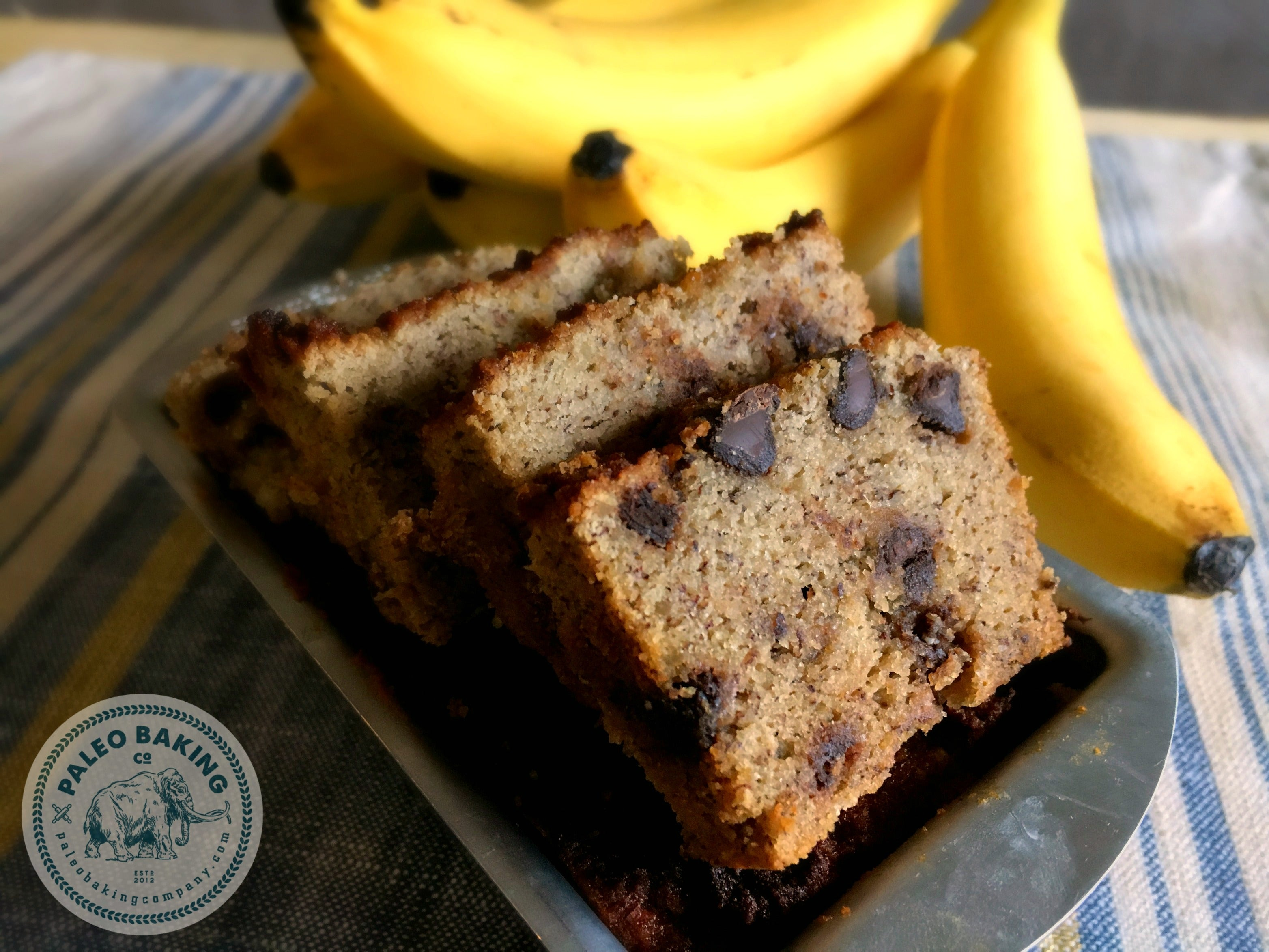 Recipe for Paleo Chocolate Chip Banana Bread