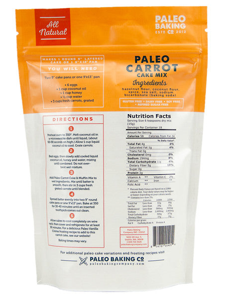 Paleo Carrot Cake Mix