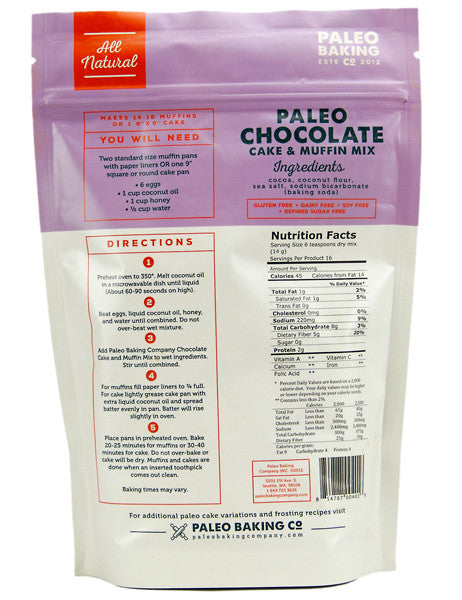 Paleo Chocolate Cake and Muffin Mix