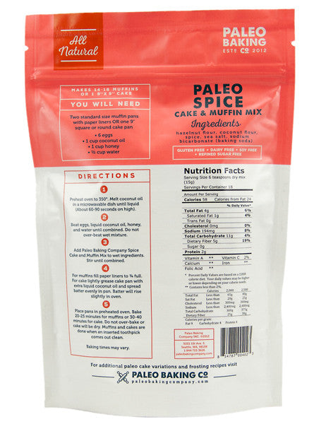 Paleo Spice Cake and Muffin Mix