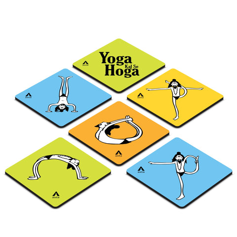 Yoga Design Coaster ( Set of 6 )