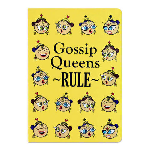 Gossip Queens Yellow Ruled Notebook