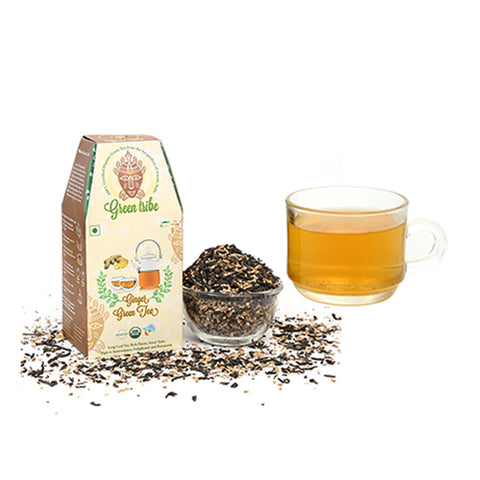 Organic Ginger Green Tea  (100 g)