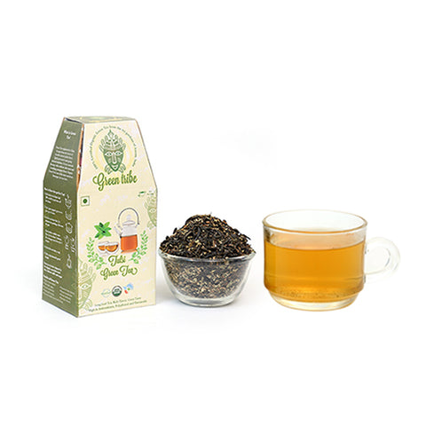 Organic Tulsi Green Tea Box  (100 g)
