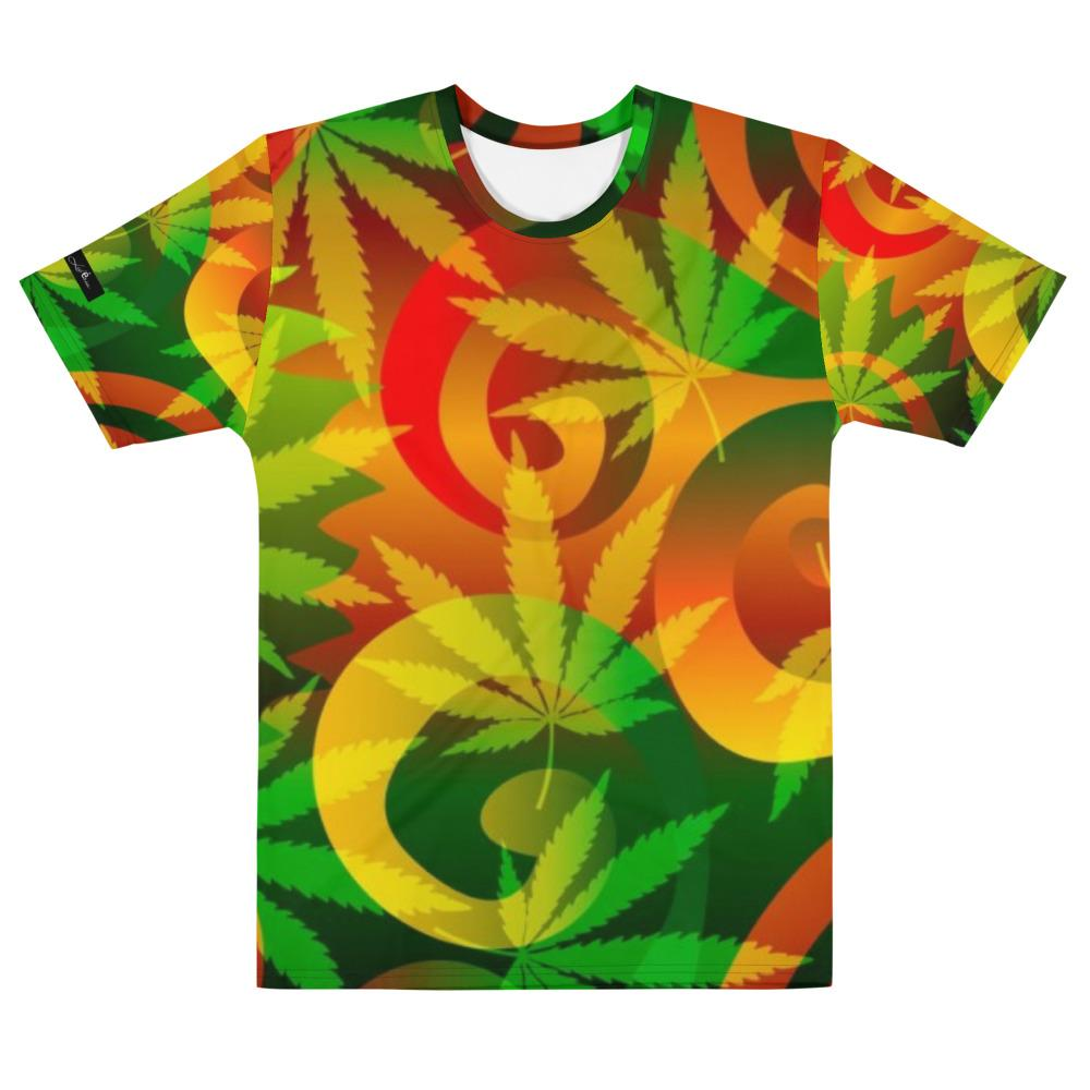 Men's T-shirt Frank Libéria (pattern Marijuana)
