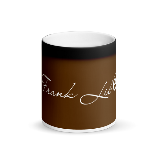 Mug: Matte Black and brown Magic Mug Frank Libéria