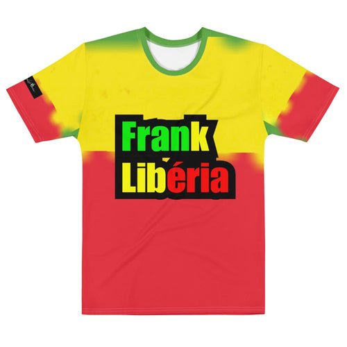 Men's T-shirt Frank Libéria| jamaican color.