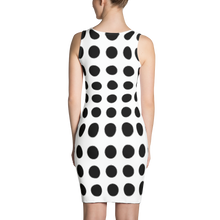 Charger l'image dans la galerie, Dress white and black | Dress Frank Libéria color white and black (circle pattern)