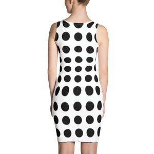 Dress white and black | Dress Frank Libéria color white and black (circle pattern)