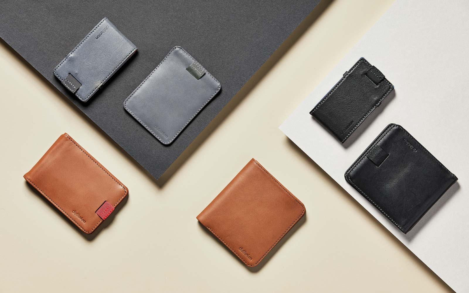 Distil Union's Wally leather wallets are slim by design