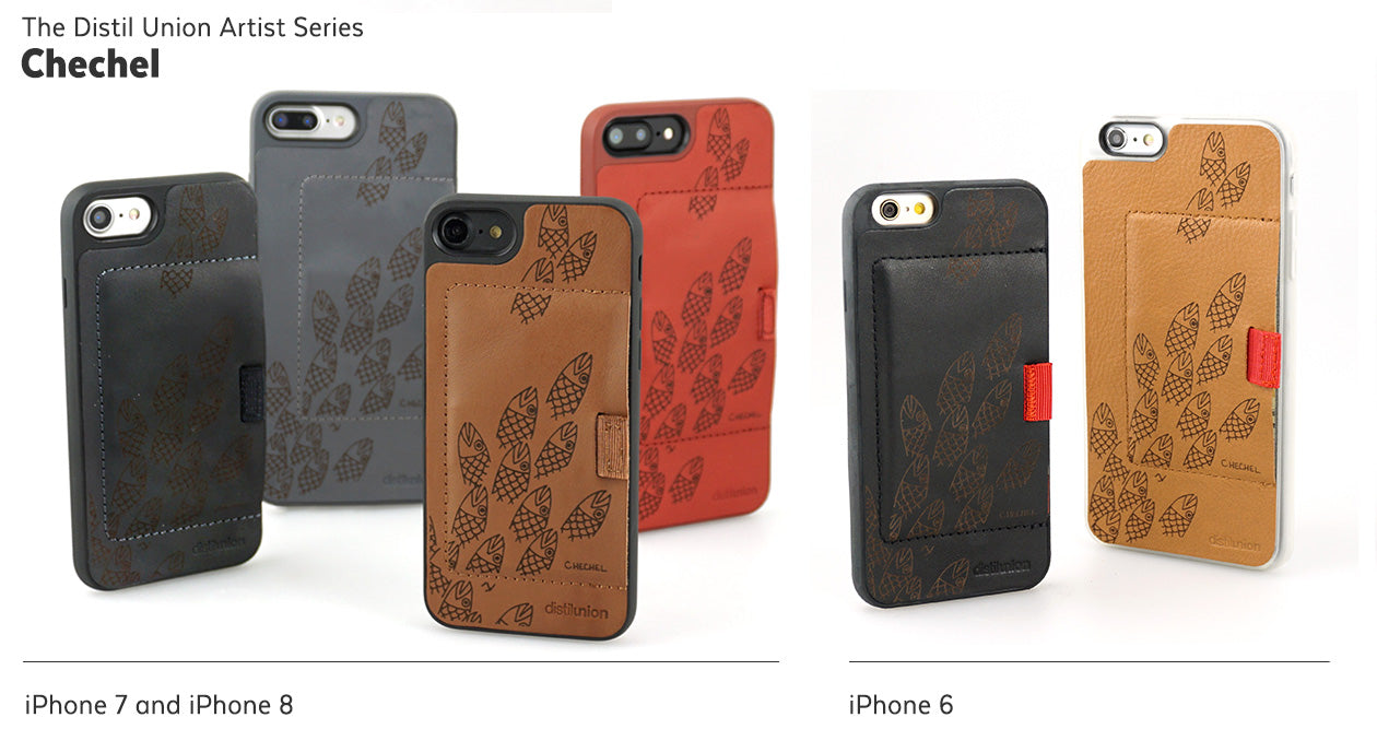 Chechel Justiss: Limited-Edition Distil Union Artist Series of Laser-Engraved Leather Wally iPhone Wallet Cases