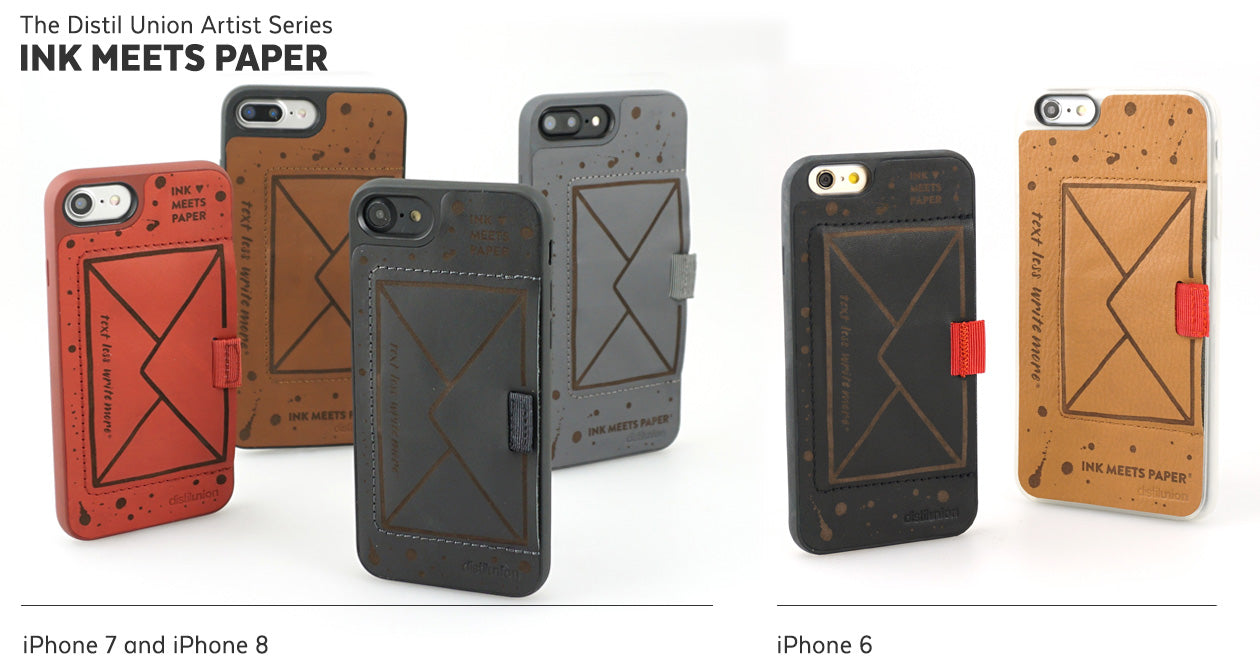 Ink Meets Paper Limited-Edition Distil Union Artist Series of Laser-Engraved Leather Wally iPhone Wallet Cases