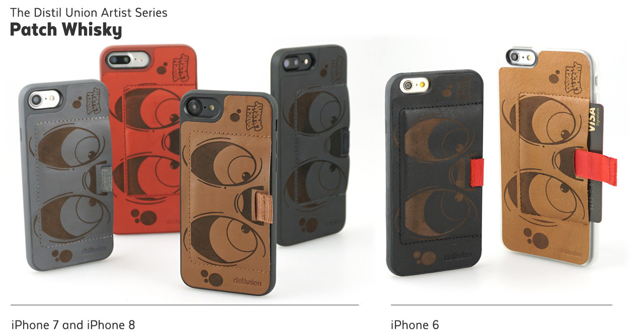 Patch Whisky: Limited-Edition Distil Union Artist Series of Laser-Engraved Leather Wally iPhone Wallet Cases