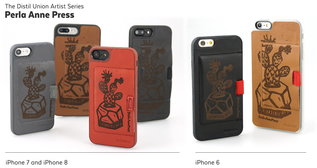 Stacey Bradley of Perla Anne Press: Limited-Edition Distil Union Artist Series of Laser-Engraved Leather Wally iPhone Wallet Cases