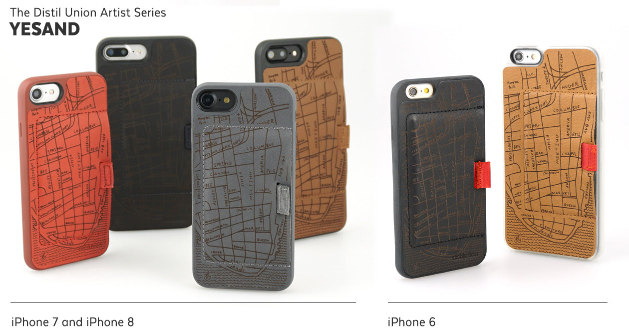 YESAND: Limited-Edition Distil Union Artist Series of Laser-Engraved Leather Wally iPhone Wallet Cases
