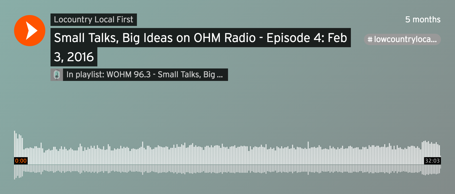 Small Talks, Big Ideas on OHM Radio
