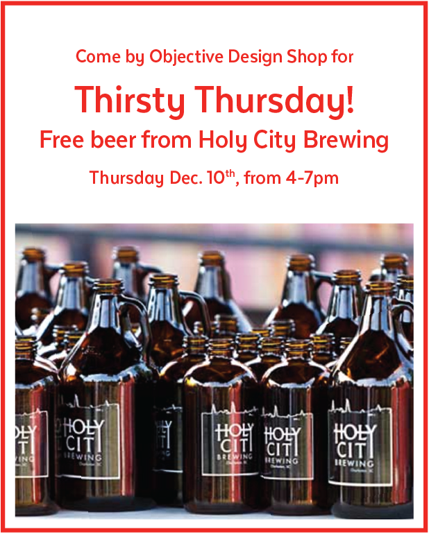 Thirsty Thursday with Holy City Brewing at Objective