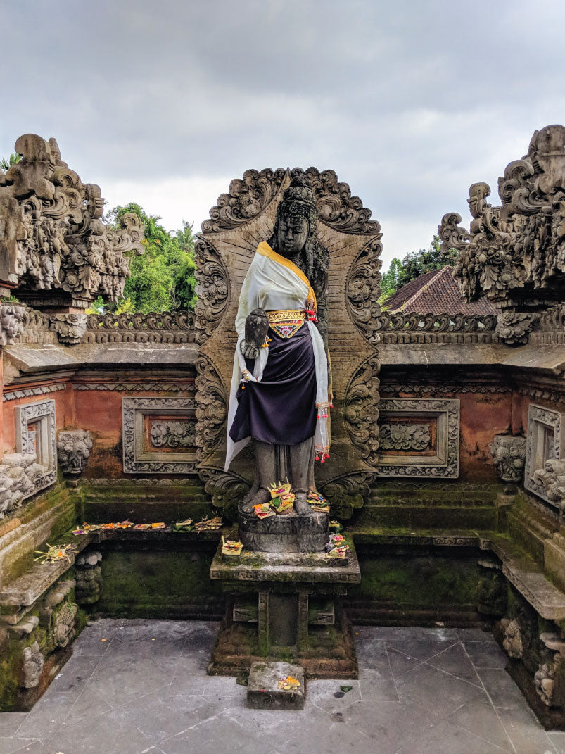 A shrine and offerings in Ubud, Bali, Indonesia by Distil Union