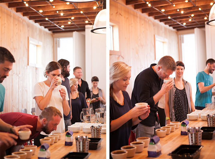 Coffee Tasting at Counter Culture in Charleston Photos by Leslie McKellar