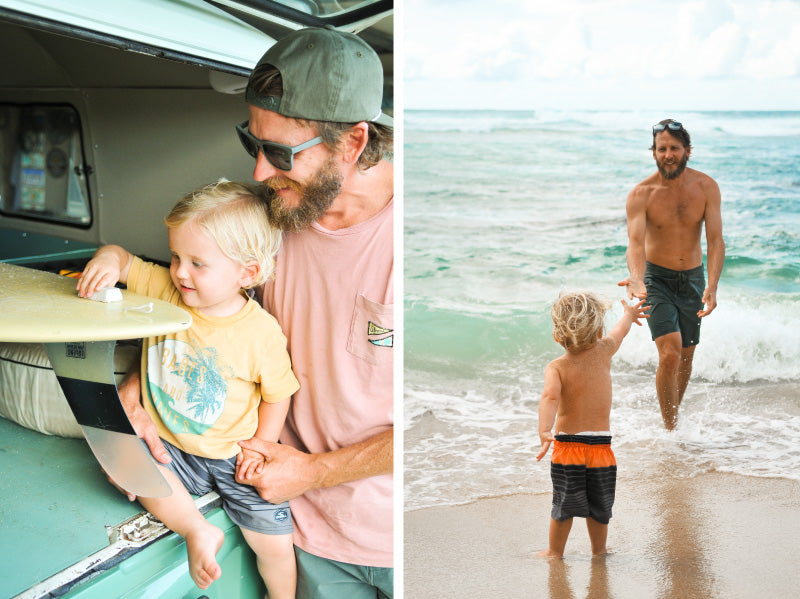 MagLock Sunglasses hit the surf with Dad on Father's Day