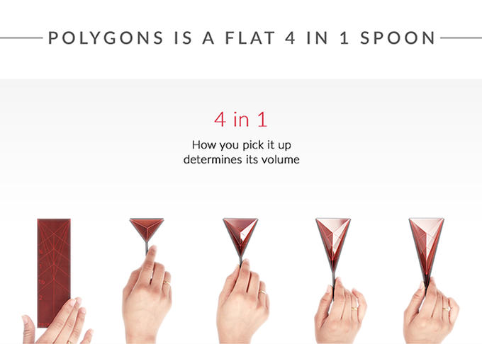 polygons foldable measuring spoon on kickstarter