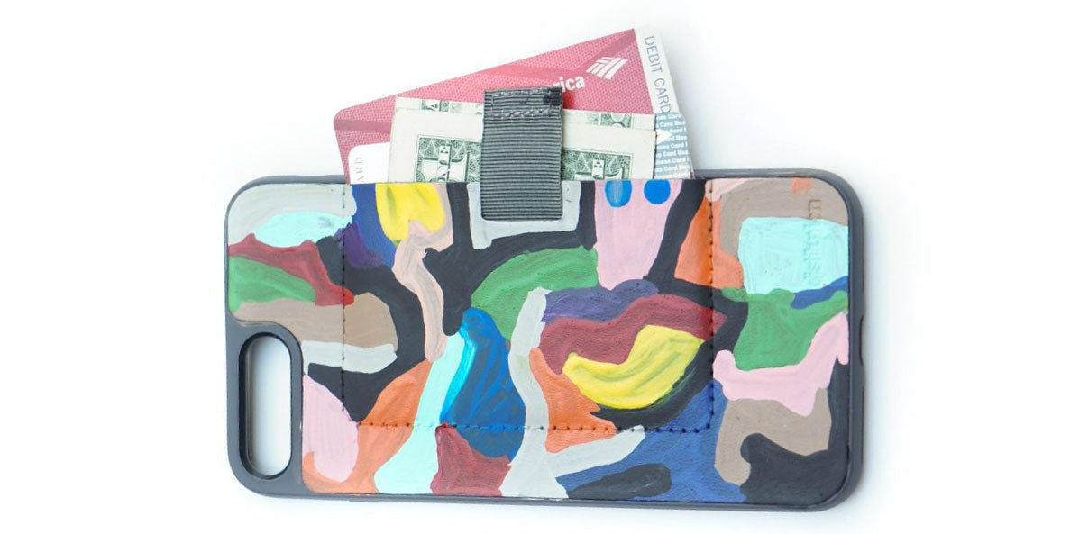"STATE the Label hand-painted leather iPhone Wally Wallet Case in ""Artist"""