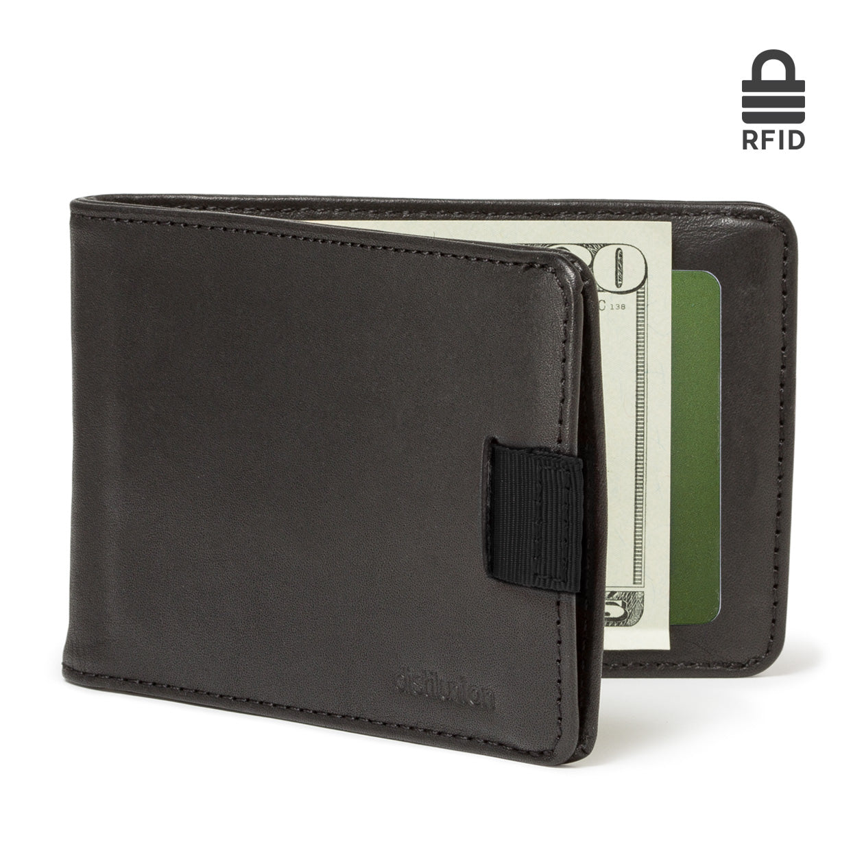 Wally Bifold leather wallet with RFID-blocking