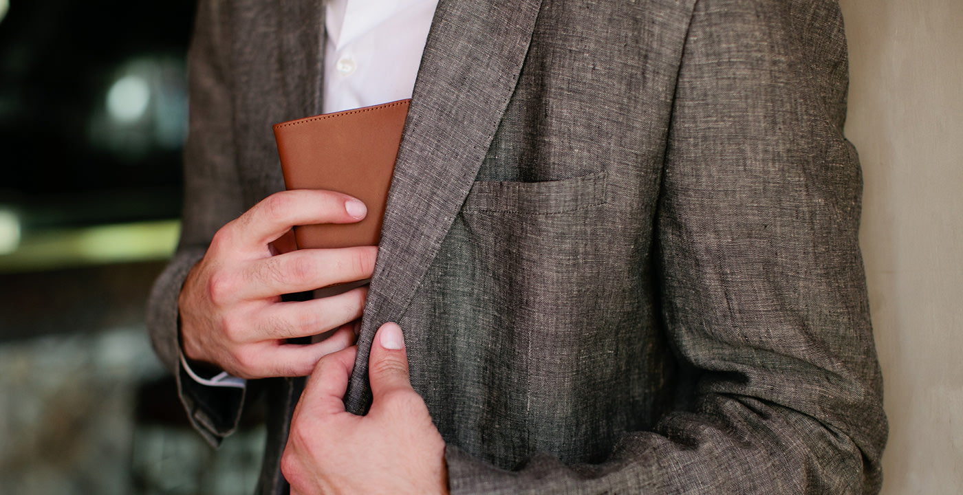 Front pocket wallets are the way to go, and you can get there with Wally Wallets by Distil Union