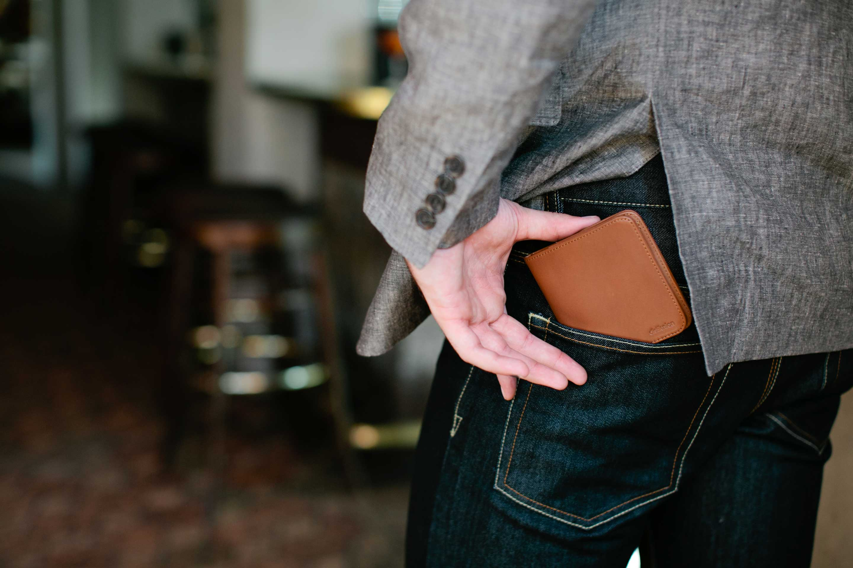 Sure you can put your wallet in your back pocket — just take it out when you sit down!