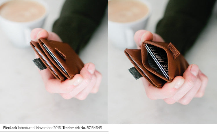 FlexLock keeps cards safely inside your wallet