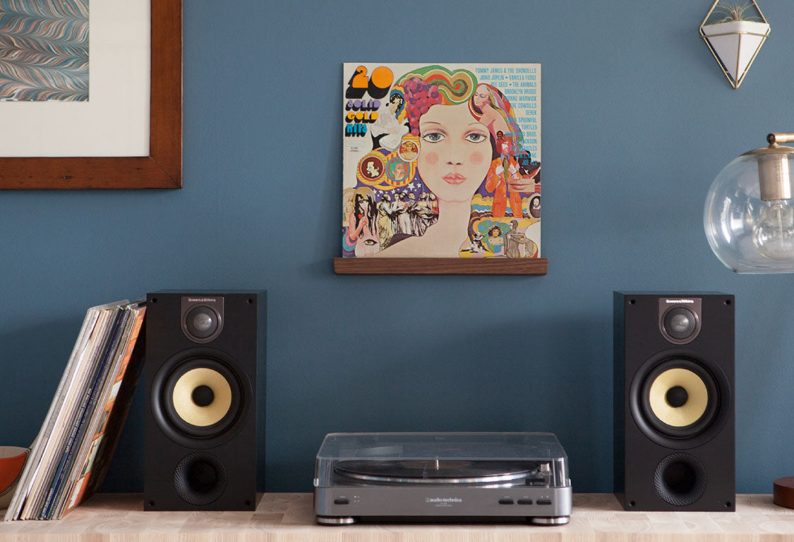 Visible Vinyl record shelves by Well Made