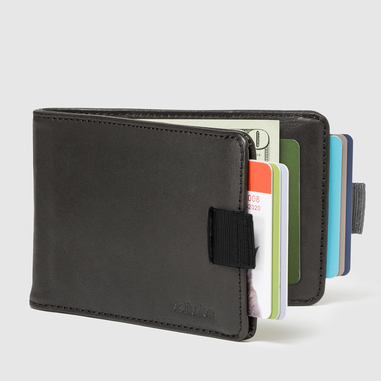 2e1c84c41298 ... Distil Union Wally Bifold Pull-Tab Billfold Wallet in Ink Black Leather  with RFID Blocking ...
