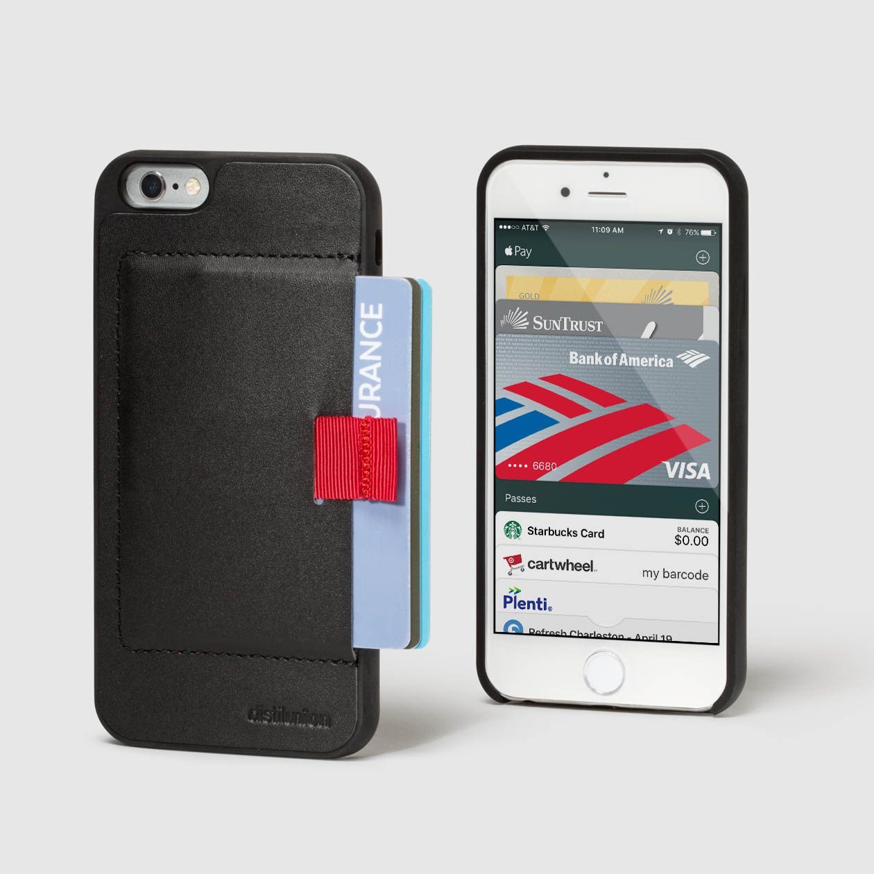 80fcf0e2a ... Distil Union Wally Case for iPhone 6 Wallet with Pull-Tab in Black  Leather ...