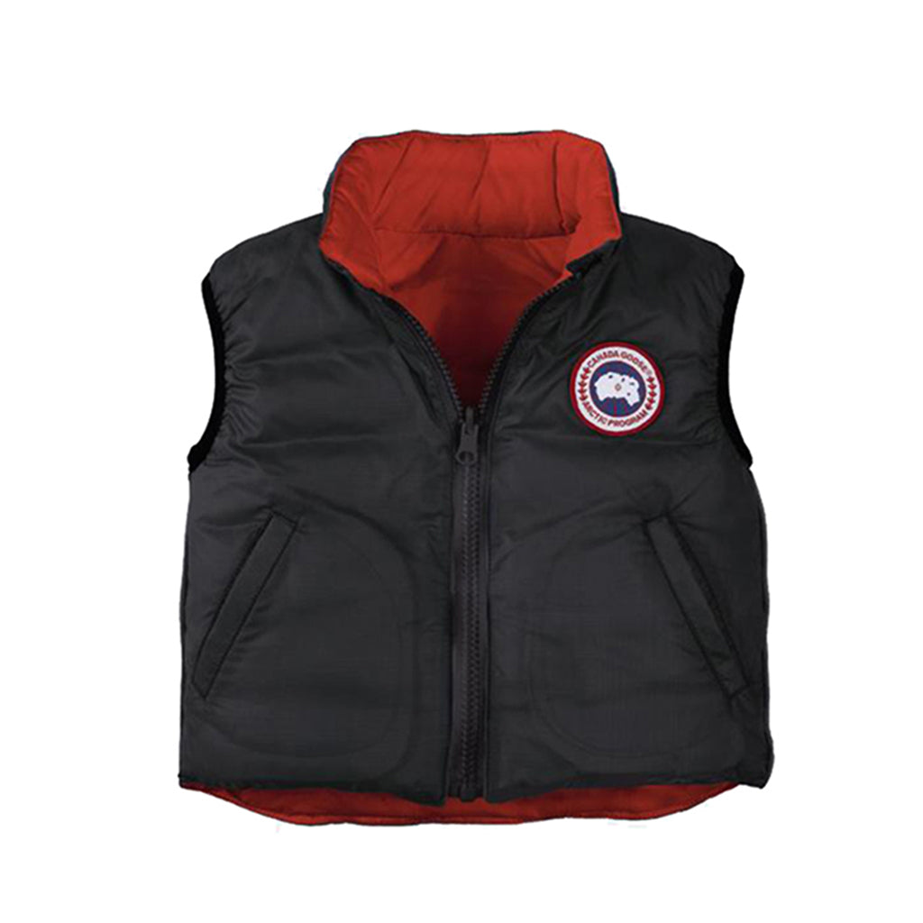 Canada Goose Baby Reversible Vest black-red
