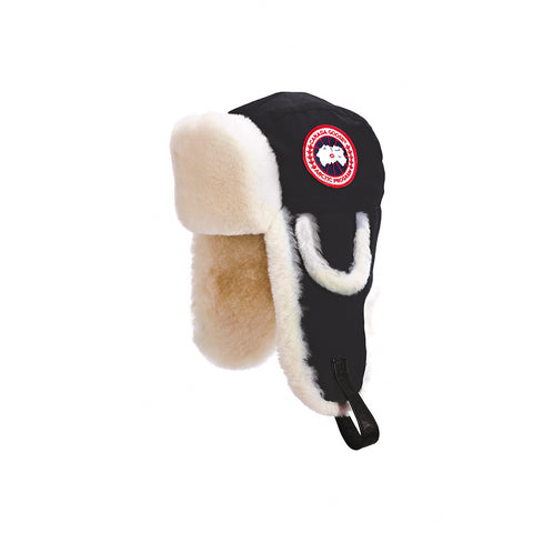 Men's Artic Tech Shearling Pilot Hat Black