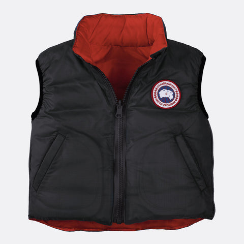 Canada Goose Baby Reversible Vest S (6-12 months) / Black / Red