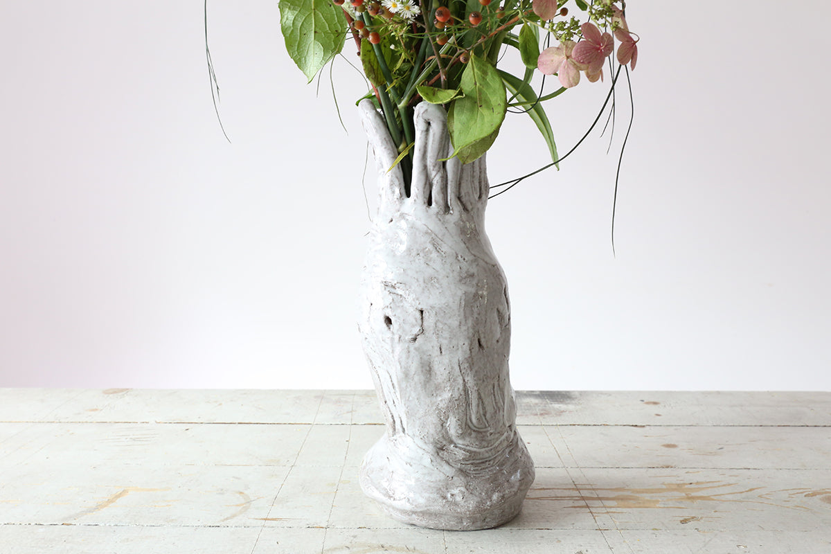 Large Wrapped Ceramic Vase