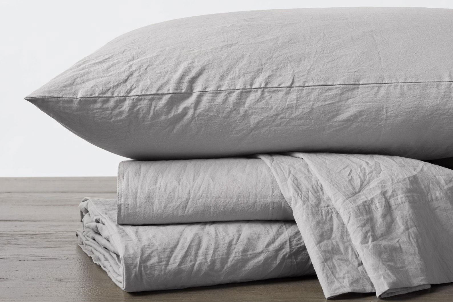 Pewter Organic Crinkled Sheet Set