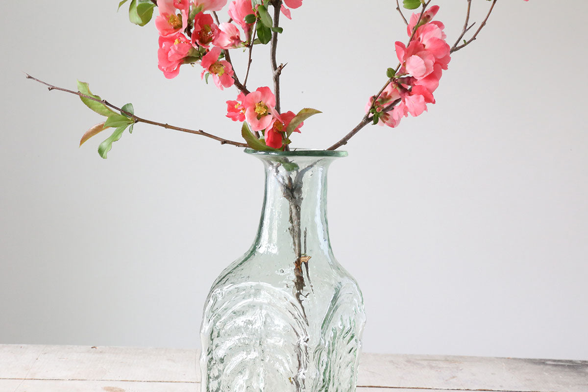 Date Tree Glass Vase