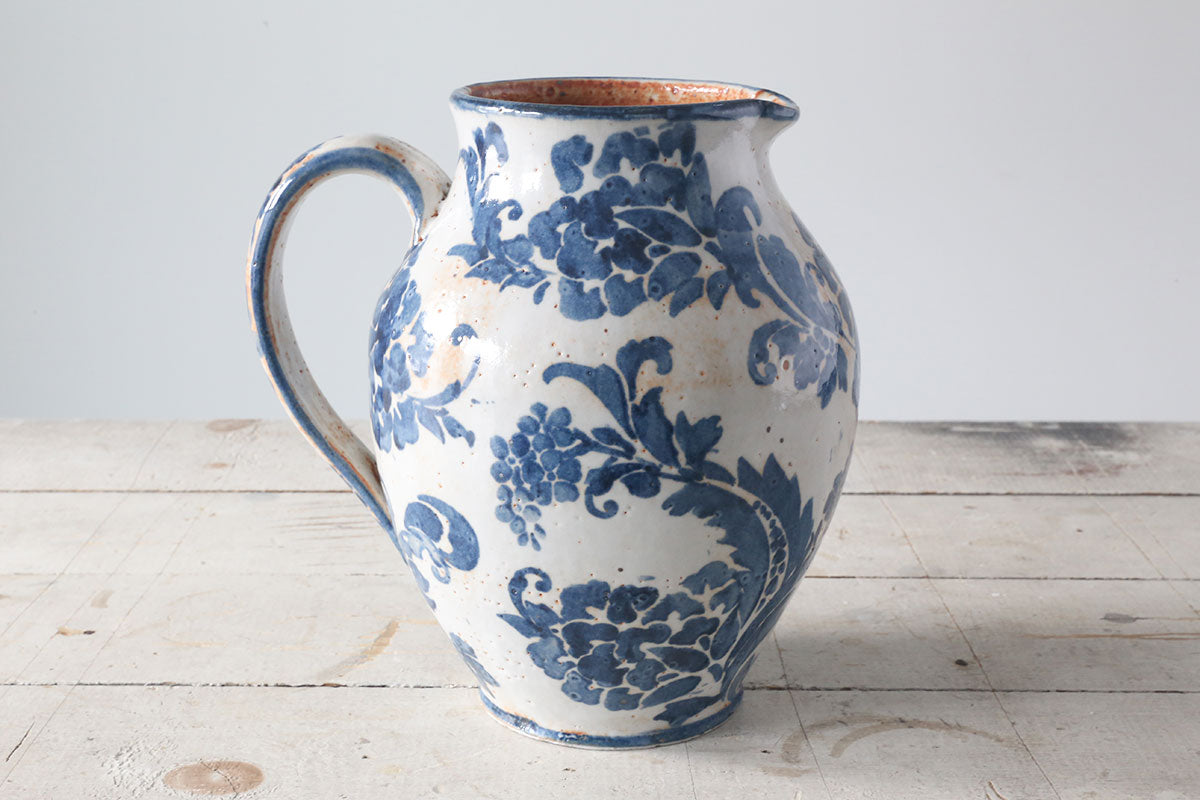 Large Indigo Pitcher