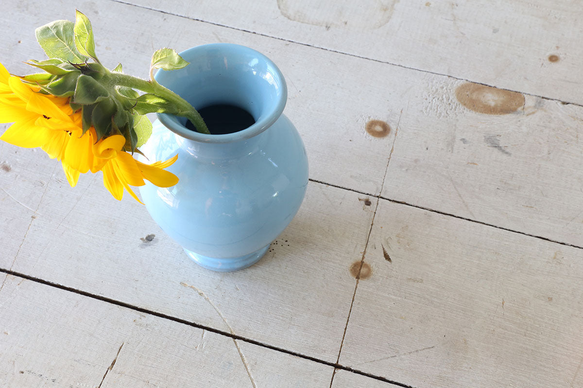 Small Blue Ceramic Vase