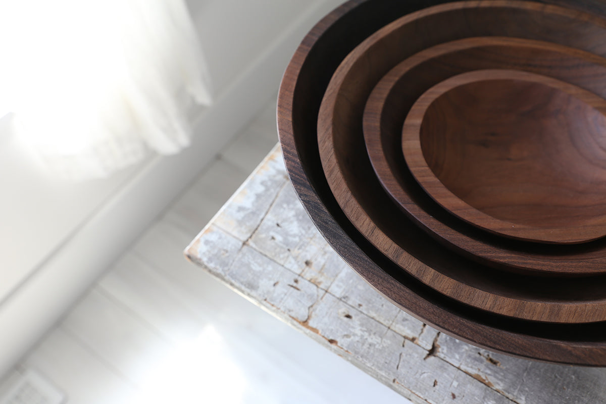Black Walnut Round Bowl 15""