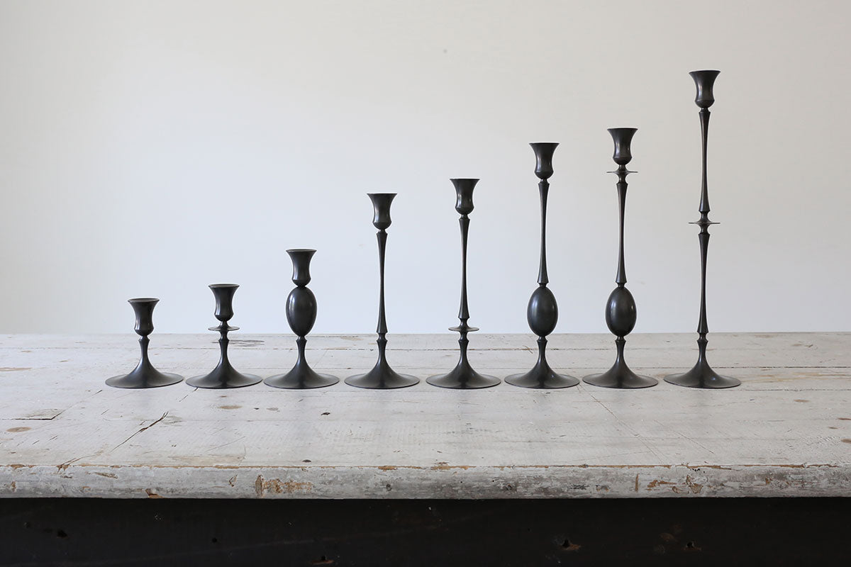 Oxidized Bronze Candlestick No. 0203