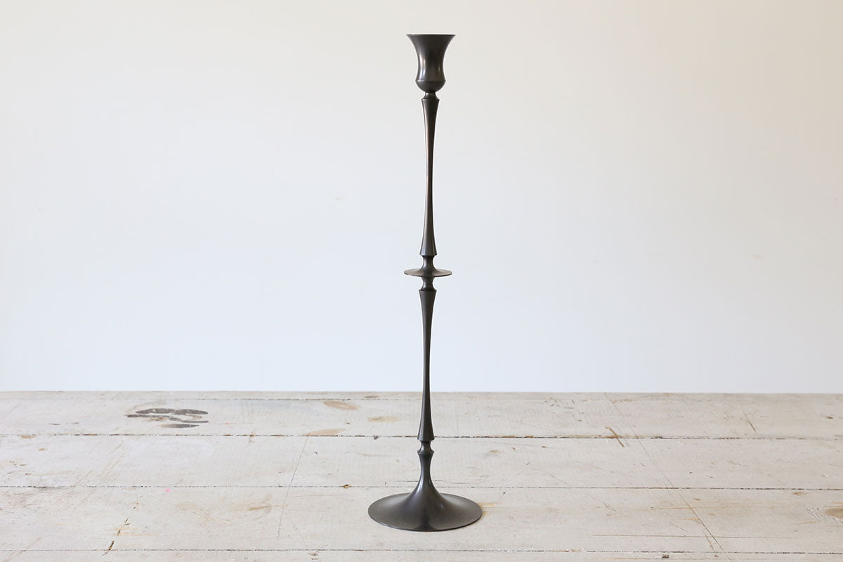 Oxidized Bronze Candlestick No. 0216