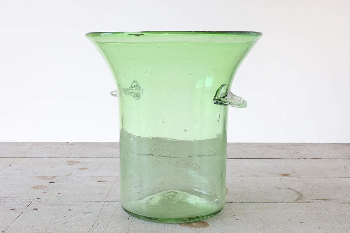 Green Glass Champagne Bucket