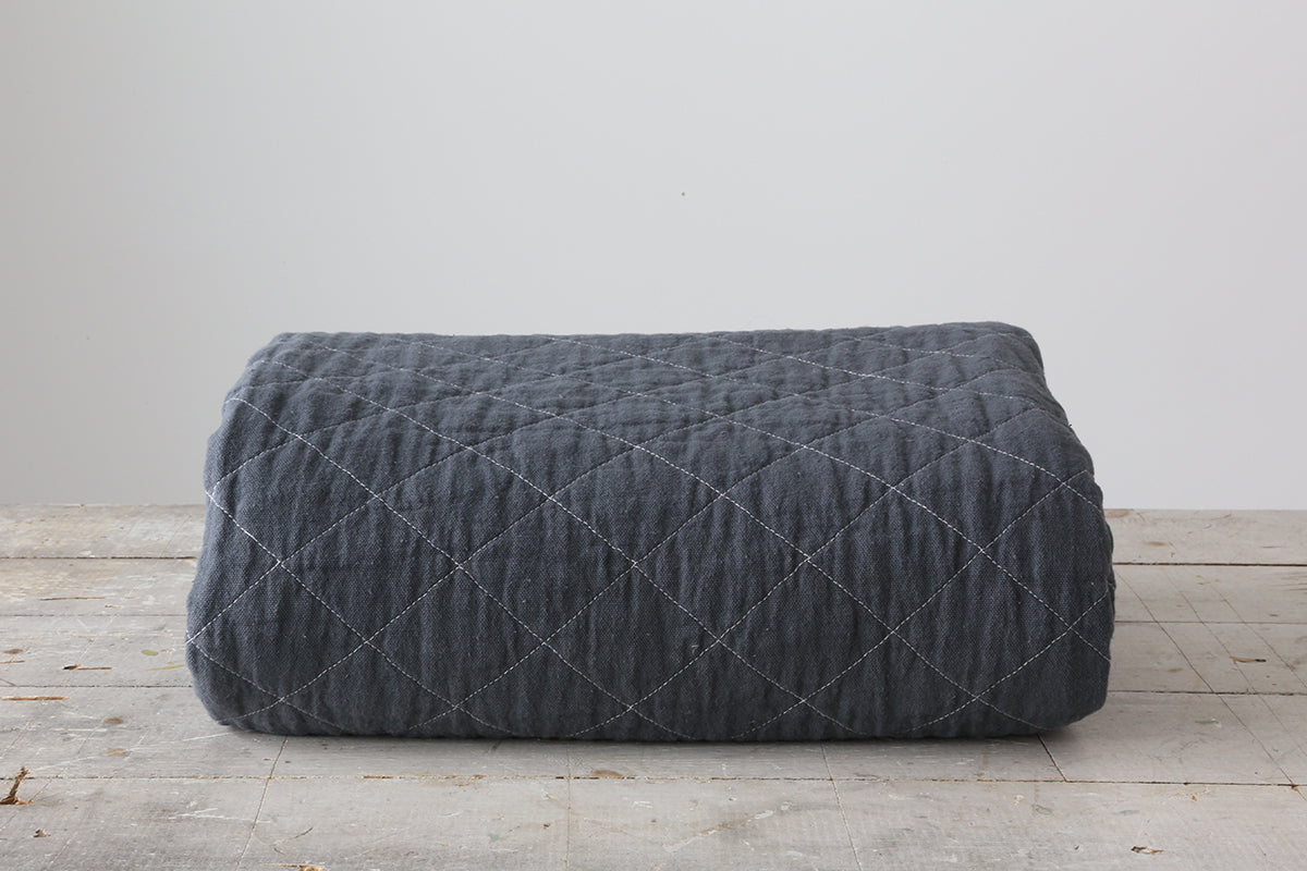 charcoal canvas throw blanket alder co