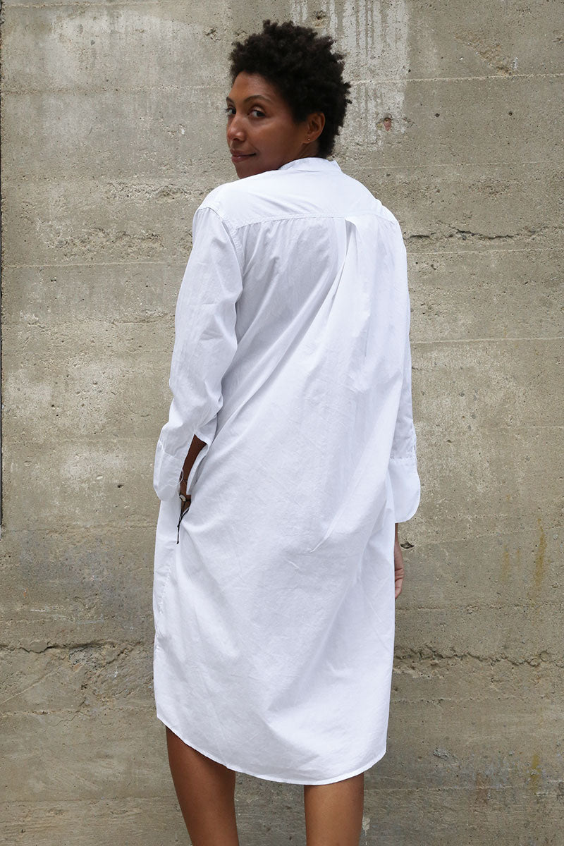 White Cotton Nightshirt