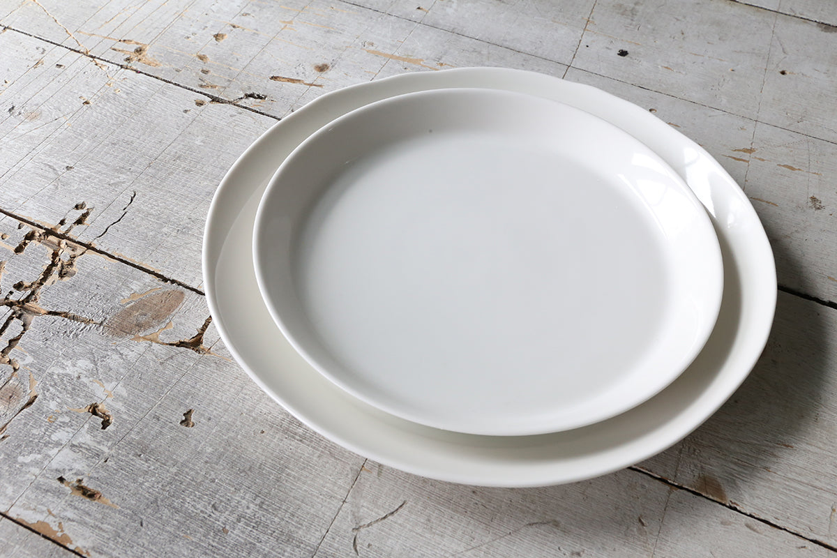 White Porcelain Dinner Plate