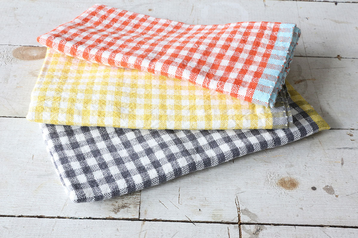 Orange & Aqua Tea Towel