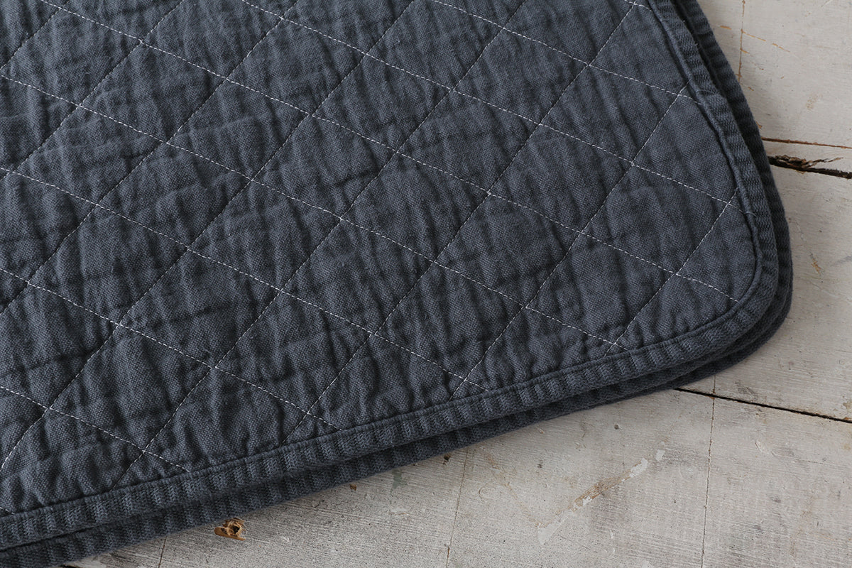 Charcoal Canvas Coverlet